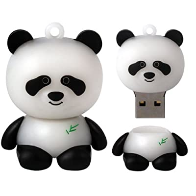 8 GB Novelty XYLO-FLASH Cute Black & White Panda Keyring USB 2.0 Memory Stick / Pen Storage Flash Drive. Compatible With PC / Mac. by XYLO ACCESSORIES