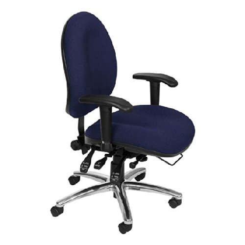 OFM, Inc. Comfy Seat XL Fabric Task Chair offex home office lucent task chair chrome indigo blue