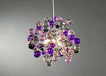Contemporary chandeliers purple marbles chandelier for Contemporary chandeliers amazon