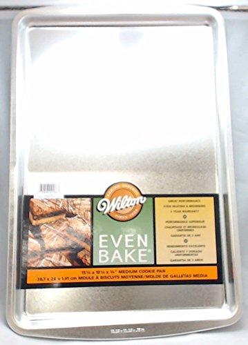 Wilton Even Bake Medium Cookie Pan, 15-1/4 X 10-1/4 X 3/4, 2105-2166