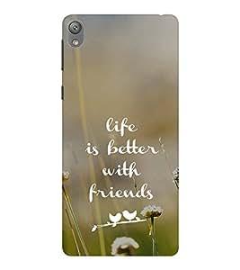 EPICCASE Friends make life Mobile Back Case Cover For Sony E5 (Designer Case)