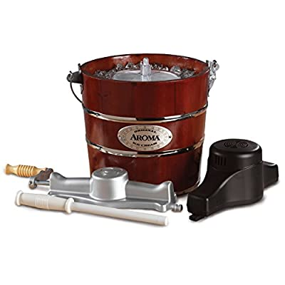 Aroma 4-Quart Traditional Ice Cream Maker, Fir Wood from Aroma Housewares