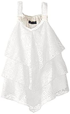 My Michelle Big Girls' Solid Tiered Crochet Tank Top from My Michelle Children's Apparel