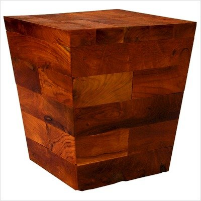 Groovy Stuff Teak Wood Pyramid Block Side Table - Tf-784