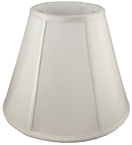American Pride Lampshade Co. 19-78090015A Round Soft Tailored Lampshade, Shantung, Off-white