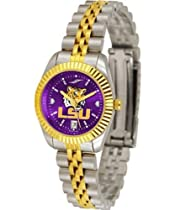 NCAA LSU Tigers Ladies Executive Watch with Stainless Steel Band