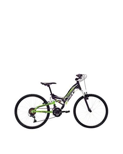 "VERTEK Bicicleta 24 Mtb Unisex ""Enduro"" 18V Negro / Verde"