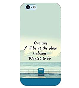 PrintDhaba QUOTE D-6713 Back Case Cover for APPLE IPHONE 6 (Multi-Coloured)