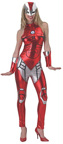 Women's Marvel Universe Iron Man Rescue Costume Cat Suit and Mask