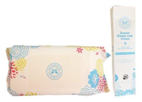 The Honest Company Baby Wipes & Diaper Rash Cream (72 Count Wipes, One Tube Diaper Rash Cream) front-920975