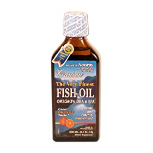 Carlson The Very Finest Fish Oil Liquid Omega-3 Orange, 200ml