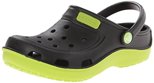 crocs Duet Wave K Clog (Toddler/Little Kid),Black/Volt Green,3 M US Little Kid
