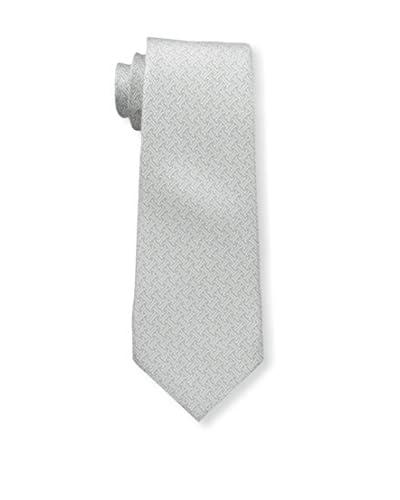 J. McLaughlin Men's Mini Patterned Tie, Silver