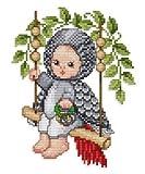 クロスステッチ図案 エレン「Gray Parrot Baby」オウム