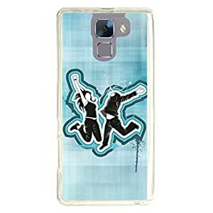 a AND b Designer Printed Mobile Back Cover / Back Case For Huawei Honor 7 (HON_7_170)