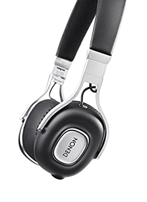 DENON AH-MM200BKEM MUSIC MANIAC on ear headphones 3 button remote control / black with a microphone