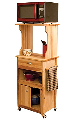 Hutch Top Cart with Open Storage (Microwave Stand Espresso compare prices)