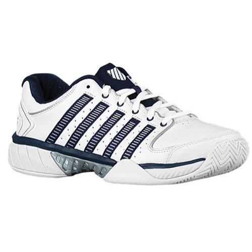 K-Swiss Hypercourt Express LTR Mens Tennis Shoes (White/Navy/Silver) (10.5 D(M) US)