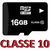 KGC_DOO MICRO SD 16GB OEM scheda di memoria CLASSE 10 Memory Card 16 GB MICROSD cl 10 - Senza adattatore - Bulk - Colore Nero - Per Telefoni cellulari, smartphone, tablet