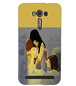 PrintDhaba FAMILY D-6913 Back Case Cover for ASUS ZENFONE 2 LASER ZE550KL (Multi-Coloured)