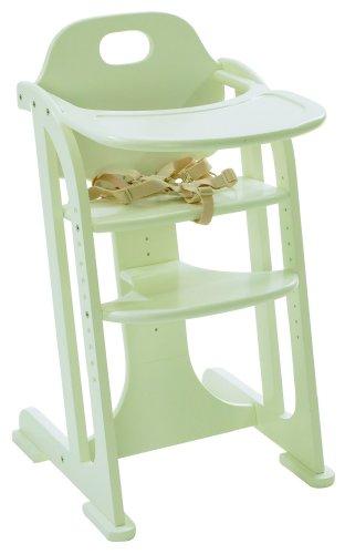 East Coast White Gloss Multi Height Highchair