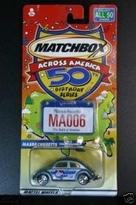 Matchbox across America 50th BDay series, Massachusetts (1962 VW BEETLE) - 1