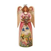 Jim Shore for Enesco Heartwood Creek Musical Spring Four Seasons Angel Plays Spring Gardens Figurine