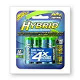 Rayovac Rechargeable Hybrid NiMH Batteries, AA-size, 4-count Carded Pack Pack of 2 (Discontinued by Manufacturer)