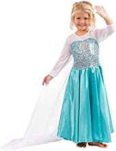 Girls Snow Queen Costume Snow Princess Dress up (7yr - 8yr)
