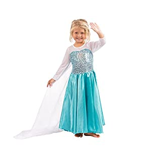 Butterfly Craze Girls Snow Queen Costume Snow Princess Dress - 4 Years