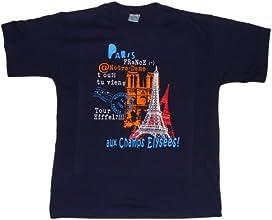 T-Shirts of France Boys Souvenirs of France - Paris Monuments T-Shirt