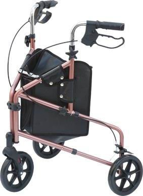 Z-TEC - Compact Deluxe Folding Aluminium Tri-Walker / Walking Aid - In Blue.