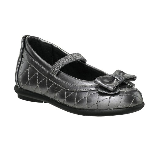 Stride Rite Ps Shirley Flat (Toddler/Little Kid),Pewter,4.5 M Us Toddler front-704136