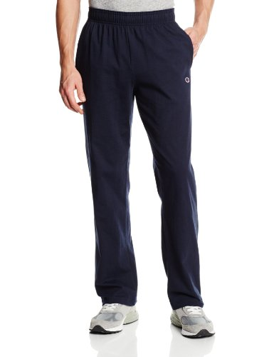 Champion Men's Open Bottom Light Weight Jersey Sweatpant, Navy, Large (The Champion compare prices)