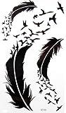 GGSELL KING HORSE Neues Design Goose und Feder temporäre Tätowierung