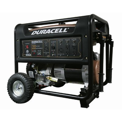 Duracell DG66M-R62 Gasoline Powered Generator with Kohler Recoiled Start Engine, 7800W