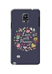 Samsung Galaxy Note 4 Back Cover Kanvas Cases Premium Quality Designer 3D Printed Lightweight Slim Matte Finish Hard Case for Samsung Galaxy Note 4