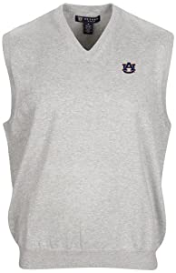 NCAA Auburn Tigers Mens Bristol Sweater Vest, Light Heather Grey, X-Large by Oxford