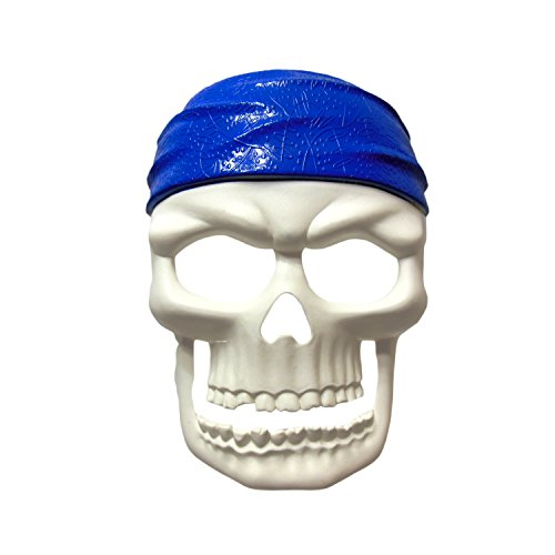 Pirate Party Masks - Pirate Skull Mask - Pirate Masquerade Mask -White/Blue