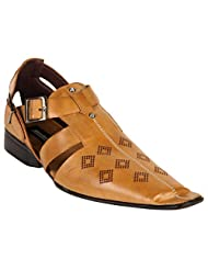 Karizma Shoes Mens Tan Casual Sandal