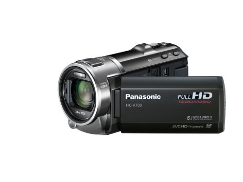 Panasonic V700 Full HD 1920 x 1080p (50p) 3D Ready Camcorder - Black (1MOS Sensor, 46x Intelligent Zoom, SD Card Recording, 28mm Wide Angle with Face Recognition) 3.0 inch LCD