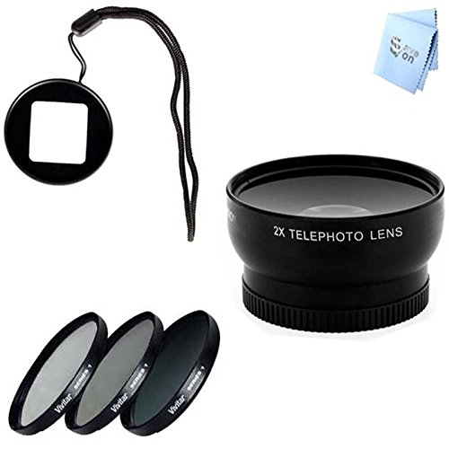 Gopro Hero3 And Hero3+ Telephoto Lens, Filter Kit And Lens Filter Adapter