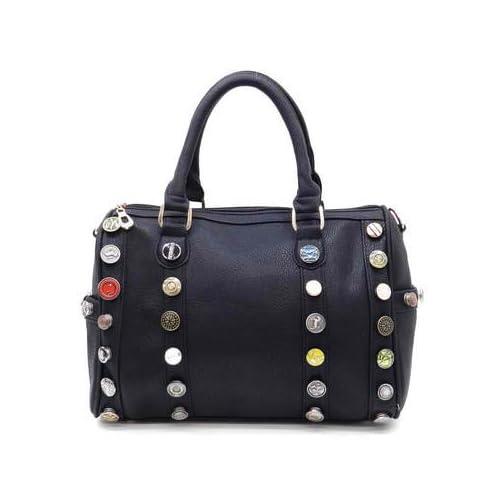152304 MyLUX Close Out High Quality Women/Girl Fashion Designer Work School Office Lady Student Handbag Shoulder Bag Purse Totes Satchel Clutches Hobos (bk)