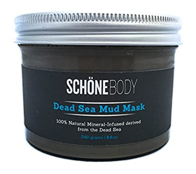 Schöne Body 100% Natural Large Dead Sea Mud Mask for Face and Body, Skin Cleanser, Pore Minimizer, Anti Aging Mask, Acne Treatment, Blackhead Remover, Cellulite Treatment, 8.8 Ounces