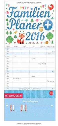 Familienplaner plus Clips 2016, Buch