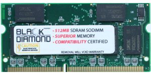 Memory-Up Exclusive 512MB SDRAM SO-DIMM Upgrade for IBM ThinkPad R Series R30 R30 Notebook PC133 Computer Memory (RAM)