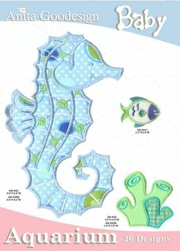 Anita Goodesign Embroidery Design Pack Cd Baby Aquarium back-407975