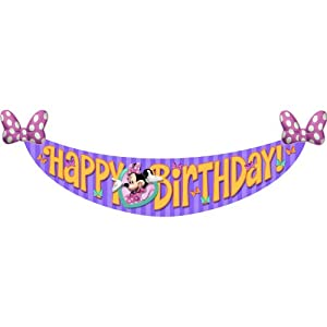 Minnie's Bow-tique Birthday Banner by Shindigz