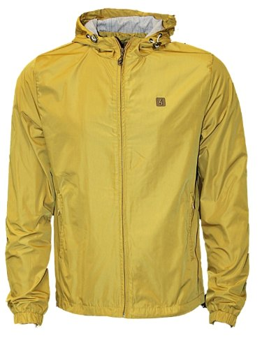 New Mens Mustard Gabicci Tintagel Designer Branded Hoody Hooded Jacket Coat Size S