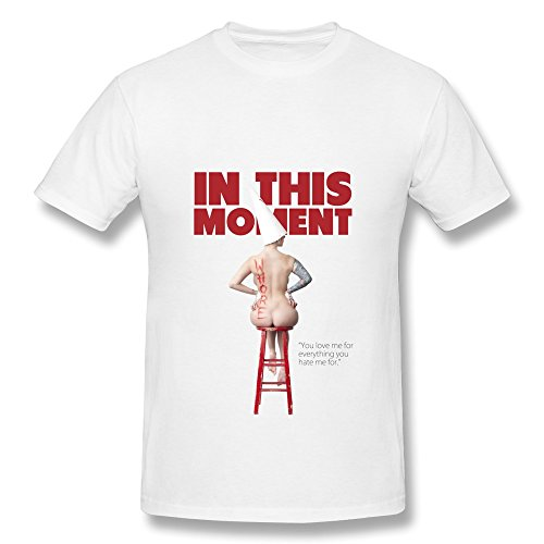 RZF Men's In This Moment Maria Brink Whore Logo T-Shirt-XXL White (Brink Merchandise compare prices)